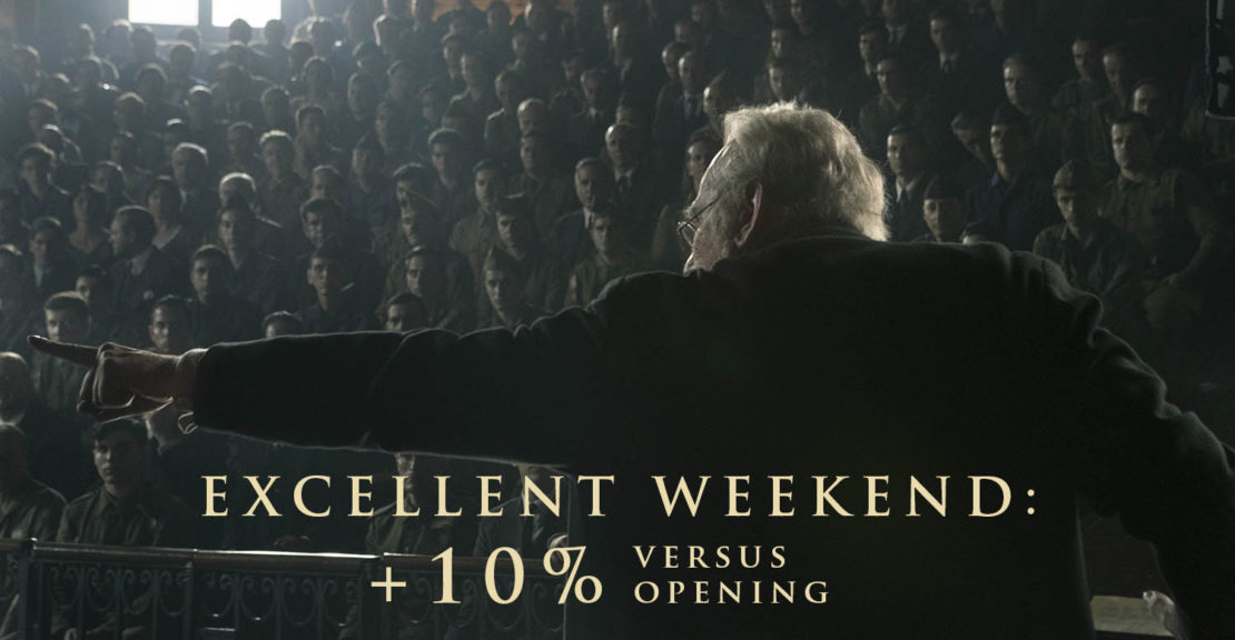 While at War increases box office versus opening